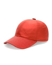 Stefano Ricci Croc Detail Silk Baseball Hat Red