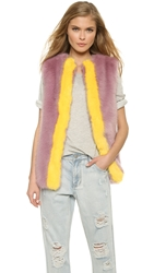 Shrimps Perry Gilet Vest Violet Sunshine Yellow
