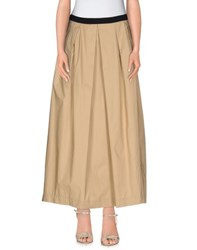 Les Copains Skirts Long Skirts Women Beige