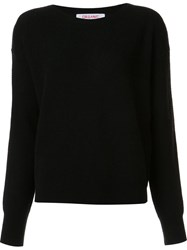 Organic By John Patrick Round Neck Loose Fit Sweater Black