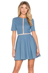 Oh My Love Denim Dress Blue