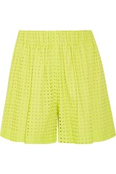 M Missoni Broderie Anglaise Cotton Shorts Green