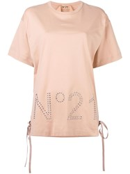 N 21 No21 Studded Logo T Shirt Pink Purple