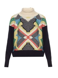 Barrie Primary Pixels Cashmere Sweater Multi