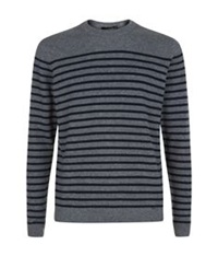 Paul Smith Stripe Cashmere Sweater Grey