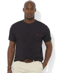 Polo Ralph Lauren Big And Tall T Shirts Pocket Tee Shirts Rl Black