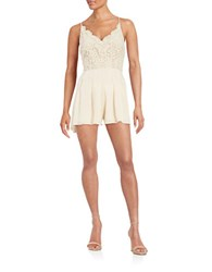 Design Lab Lord And Taylor Lace Accented Romper White