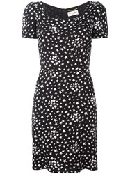 Saint Laurent Star Print Tea Dress Black