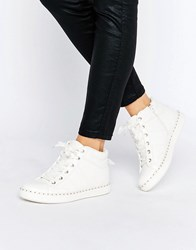 Aldo Drina White High Top Trainers 70 White