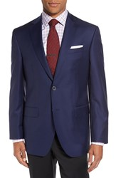 David Donahue Men's Big And Tall 'Connor' Classic Fit Solid Wool Sport Coat Navy