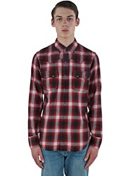 Saint Laurent Nashville Tartan Shirt Red