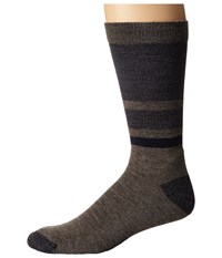 Smartwool Shed Stripe Taupe Men's Crew Cut Socks Shoes