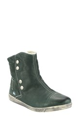 Cloud Women's 'Aline' Faux Shearling Lined Bootie Green Leather