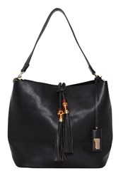 Hallhuber Studded Shoulder Bag With Tassel Detail Black