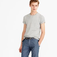 J.Crew Nautical Striped T Shirt In Heathered Cotton