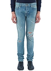 Saint Laurent 5 Pocket New Trash Jeans Blue