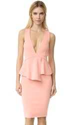 Bec And Bridge Banditti Peplum Dress Pink Salt
