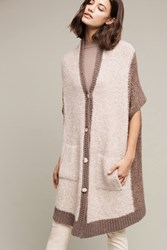 Anthropologie Oversized Cocoon Cardigan Neutral