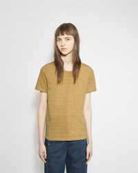 Visvim Border Striped Tee Yellow