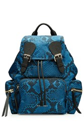 Burberry Shoes And Accessories Printed Rucksack Blue
