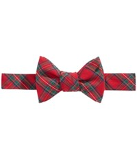 Brooks Brothers Men's Plaid To Tie Bow Tie Red
