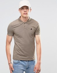 Asos Muscle Pique Polo Shirt With Embroidery In Brown Coco Brown