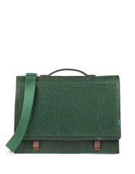 M R K T Mateo Felt And Microsuede Briefcase Midnight Green