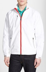 Men's Zero Restriction 'Power Torque' Waterproof Jacket White Red
