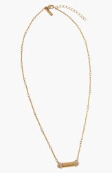 Rachel Zoe 'Nicola' Bar Pendant Necklace Clear Gold