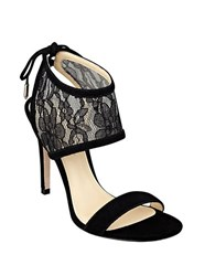 Ivanka Trump Daza Lace Ankle Cuff Sandals Black