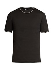 Dolce And Gabbana Crew Neck Cotton T Shirt Black Multi