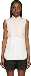 3.1 Phillip Lim Pink Layered Sleeveless Blouse