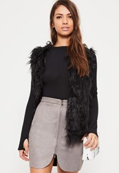Missguided Grey Faux Suede Zip Through Curve Detail Mini Skirt