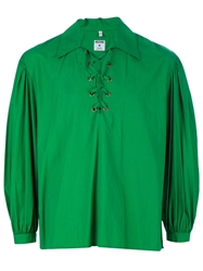 Moschino Vintage Lace Up Shirt Green