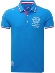 Bunker Mentality Old Game New Breed Polo Blue