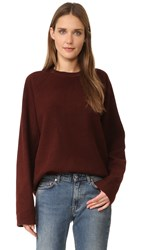 Acne Studios Cassie B Fleece Sweater Rosewood Red