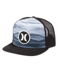 Hurley Men's Block Party Flow Graphic Print Snapback Hat Anthracite