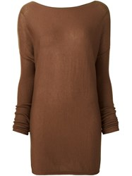 Kristensen Du Nord Fine Knit Oversized Jumper Brown