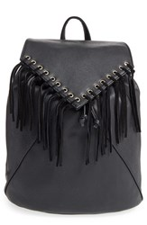 Sole Society 'Hartley' Faux Leather Backpack Black
