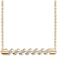 Sirena Energy Diamond Twist Bar Necklace 1 4 Ct. T.W. In 14K Gold