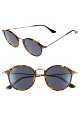 Men's Ray Ban 49Mm Retro Sunglasses Spotted Blue Havana Grey