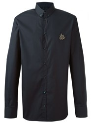 Dolce And Gabbana Bee Applique Shirt Blue
