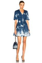 Stella Mccartney Tie Dye Denim Dress In Blue Ombre And Tie Dye Blue Ombre And Tie Dye