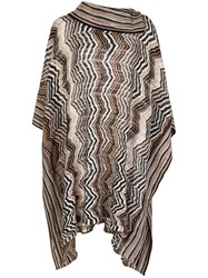 Missoni Knitted Poncho Camel