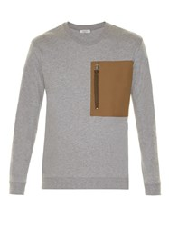 Valentino Patch Pocket Crew Neck Sweatshirt Grey