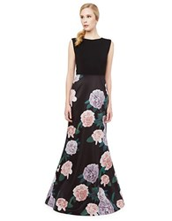 Erin Fetherston Constance Floral Print Gown Black