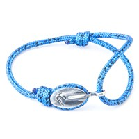 Anchor And Crew London Rope And Silver Bracelet Blue Noir