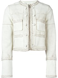 Givenchy Braided Trim Cropped Jacket White