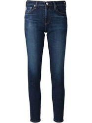 Adriano Goldschmied Cropped Skinny Jeans Blue