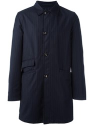 Kiton Reversible Coat Blue